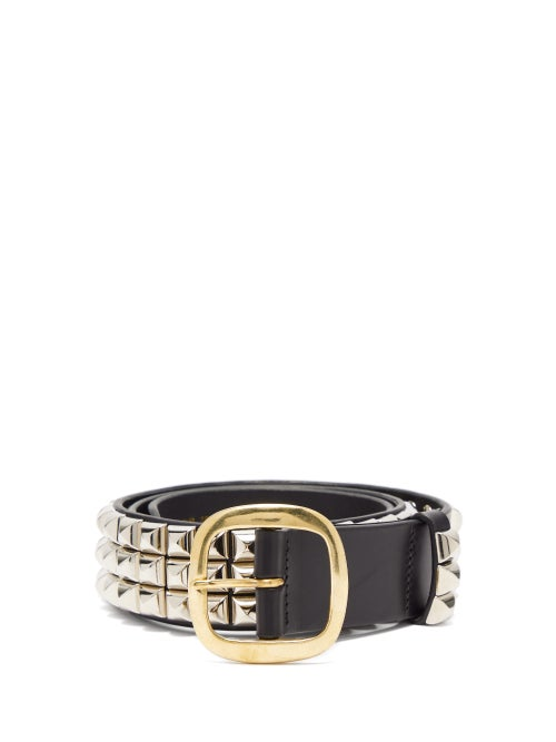 Charles Jeffrey Loverboy | Charles Jeffrey Loverboy - Studded Leather Belt - Womens - Black | Clouty