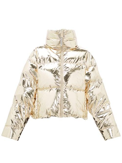 Cordova | Cordova - Mont Blanc Metallic Down-filled Jacket - Womens - Gold | Clouty
