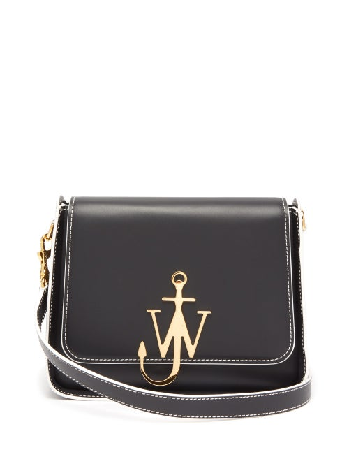 J.W. Anderson | Jw Anderson - Anchor Logo Plaque Leather Cross Body Bag - Womens - Black | Clouty