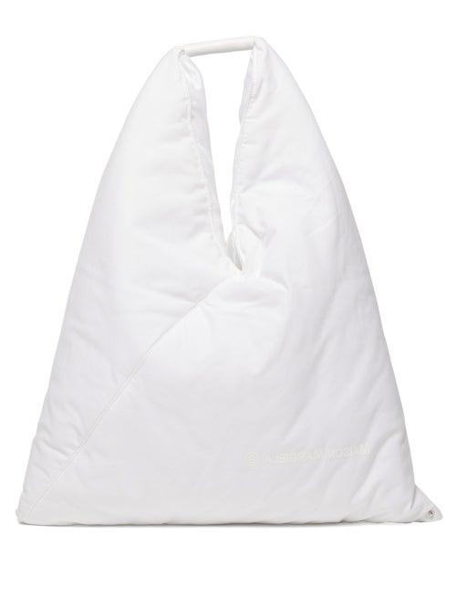 MM6 Maison Margiela | Mm6 Maison Margiela - Japanese Padded Cotton Bag - Womens - White | Clouty