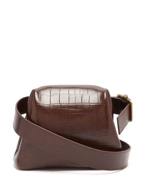 Osoi | Osoi - Brot Mini Crocodile Effect Leather Cross Body Bag - Womens - Tan | Clouty