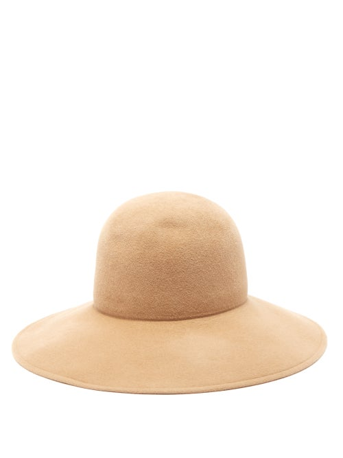 Lola Hats | Lola Hats - Biba Wide-brimmed Felt Hat - Womens - Camel | Clouty