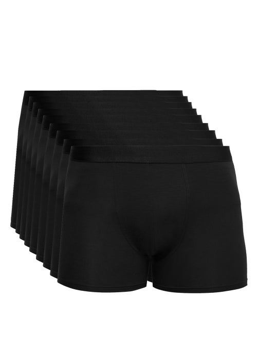 CDLP | Cdlp - Pack Of Nine Stretch-jersey Boxer Briefs - Mens - Black | Clouty