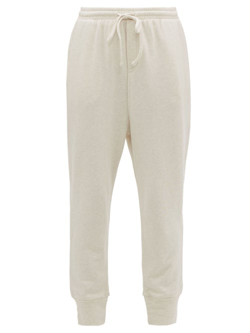 The Upside   The Upside - Leah Cotton-jersey Track Pants - Womens - Beige   Clouty