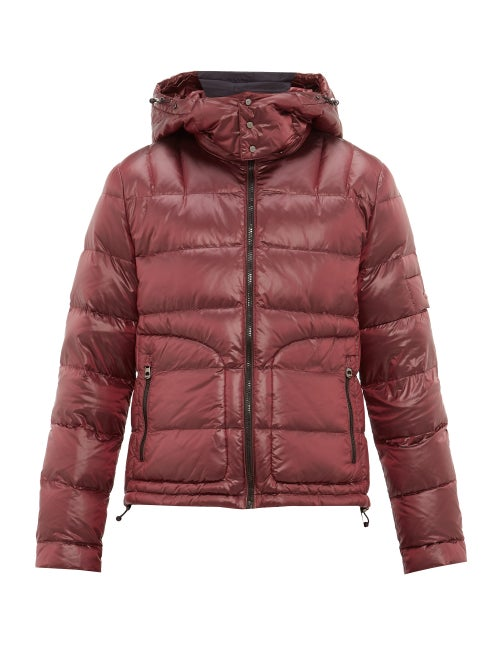 49 Winters | 49 Winters - Quilted Down Hooded Jacket - Mens - Burgundy | Clouty