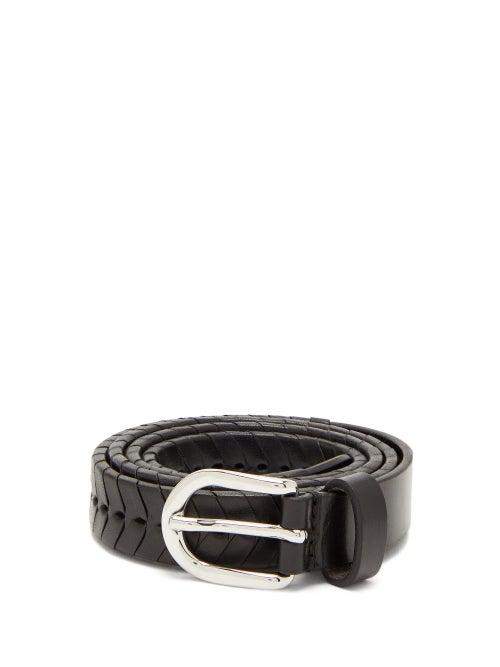 Isabel Marant | Isabel Marant - Pagoo Braided Leather Belt - Womens - Black | Clouty