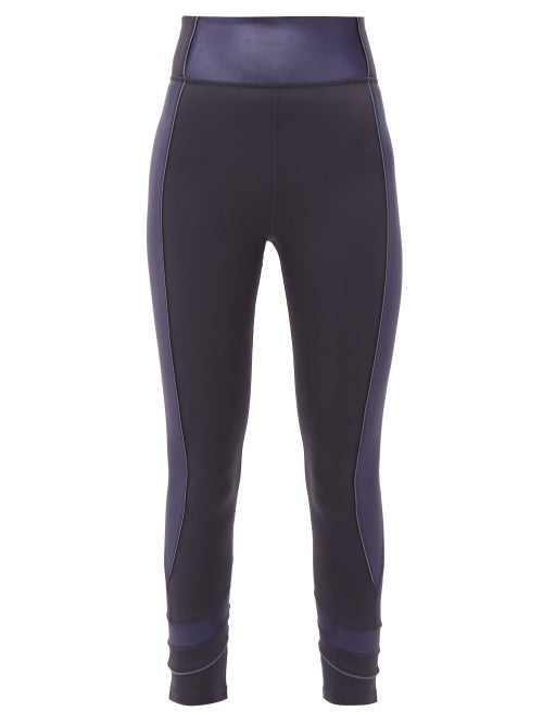 The Upside | The Upside - Nalu Side-panelled Leggings - Womens - Navy | Clouty