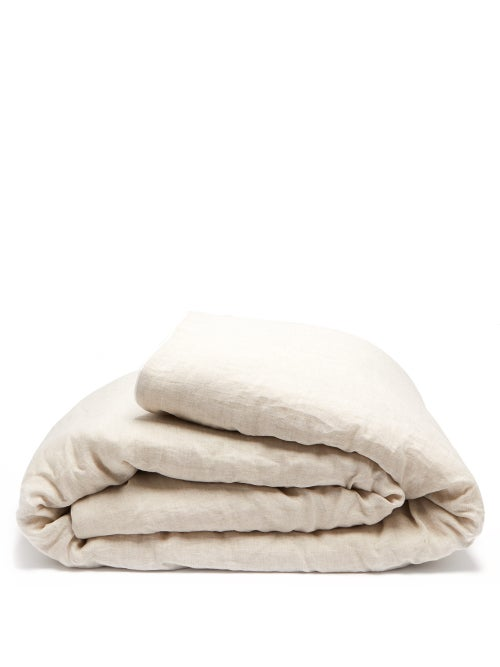 Once Milano | Once Milano - Double-sided Crushed-linen Quilt - Beige | Clouty