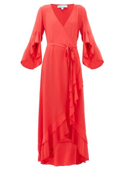 Melissa Odabash | Melissa Odabash - Cheryl Ruffled Wrap Dress - Womens - Red | Clouty