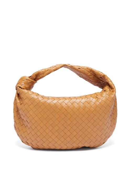 Bottega Veneta | Bottega Veneta - Bv Jodie Small Intrecciato Leather Shoulder Bag - Womens - Tan | Clouty
