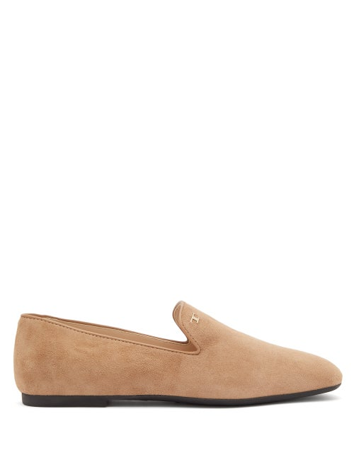 Tod's | Tod's - Suede Loafers - Womens - Beige | Clouty