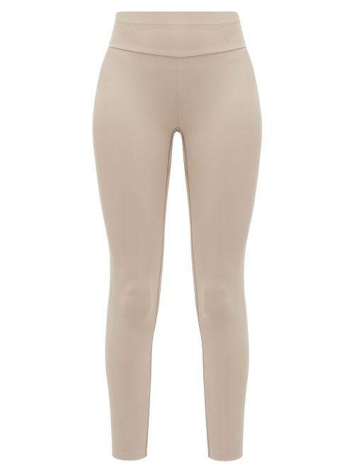Vaara | Vaara - Millie High-rise Leggings - Womens - Light Brown | Clouty