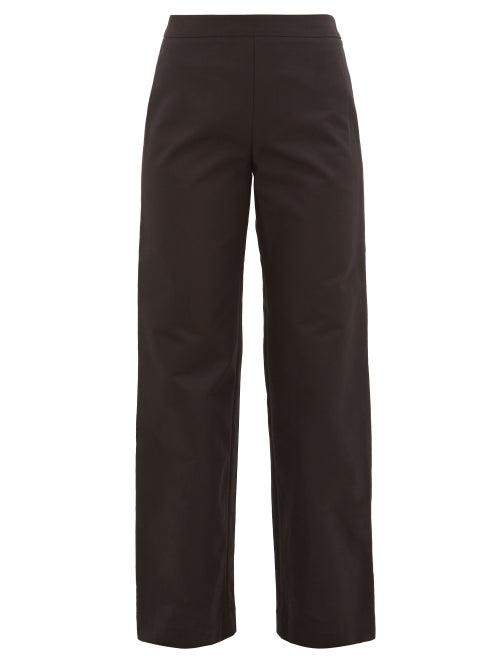 Merlette | Merlette - Kadapul Wide-leg Cotton-twill Trousers - Womens - Black | Clouty