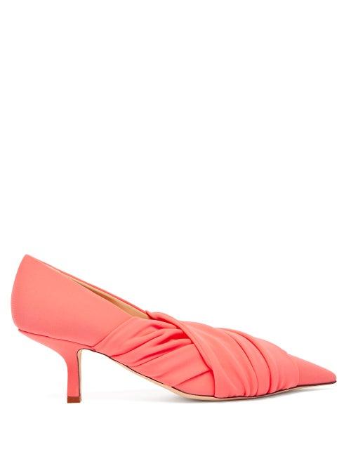 Midnight 00 | Midnight 00 - Point-toe Kitten-heel Pumps - Womens - Light Pink | Clouty