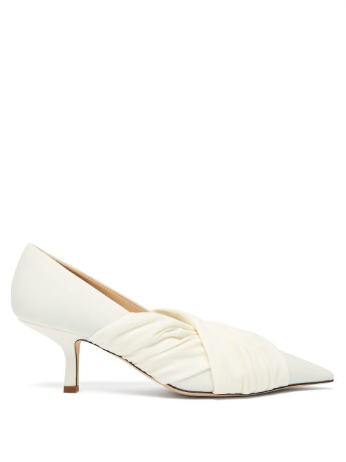 Midnight 00 | Midnight 00 - Point-toe Stretch-jersey Pumps - Womens - White | Clouty