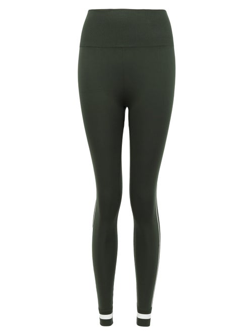 The Upside | The Upside - Freedom Side-stripe Stretch-jersey Leggings - Womens - Dark Green | Clouty