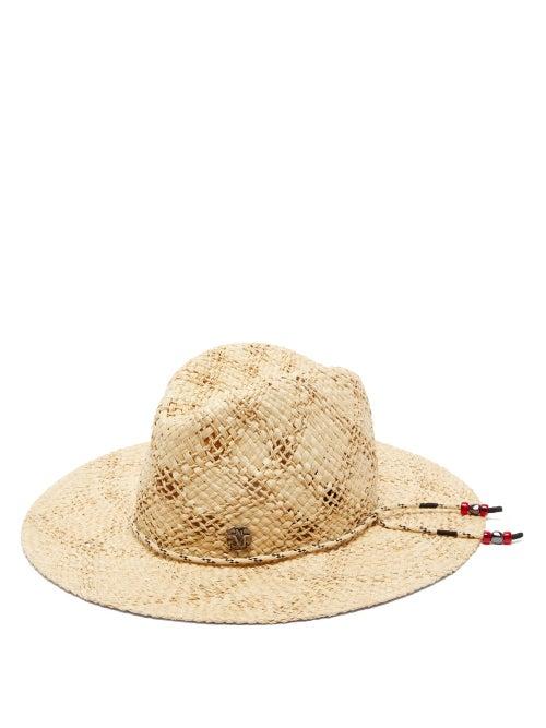 Maison Michel | Maison Michel - Zango Open-weave Straw Hat - Womens - Beige | Clouty