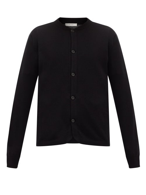 The Row | The Row - Wes Bomber-collar Cashmere Cardigan - Mens - Black | Clouty
