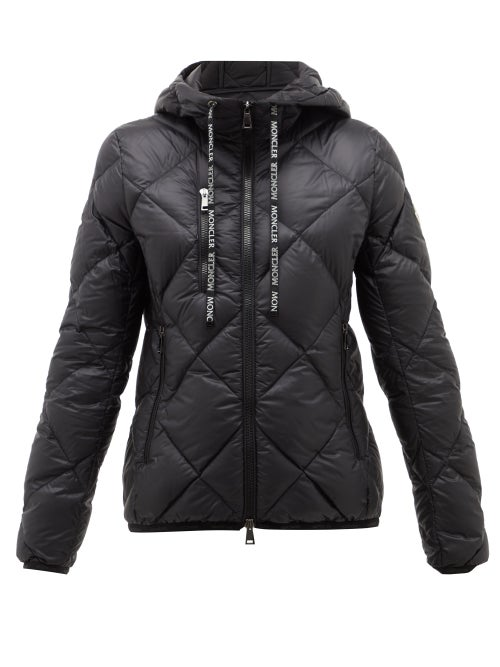 MONCLER | Moncler - Oulx Diamond-quilted Nylon Jacket - Womens - Black | Clouty