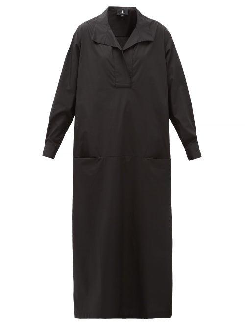 Su Paris | Su Paris - Luka Cotton-poplin Maxi Dress - Womens - Black | Clouty