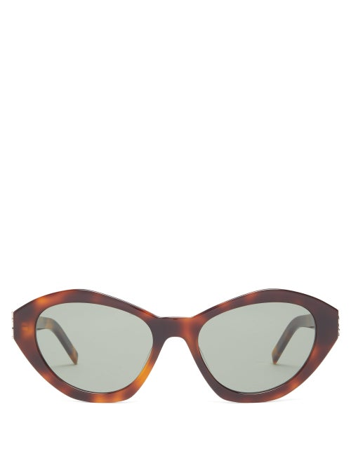 SAINT LAURENT | Saint Laurent - Cat-eye Tortoiseshell-acetate Sunglasses - Womens - | Clouty