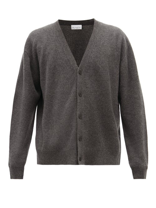 Raey | Raey - Loose-fit Cashmere Cardigan - Mens - Charcoal | Clouty