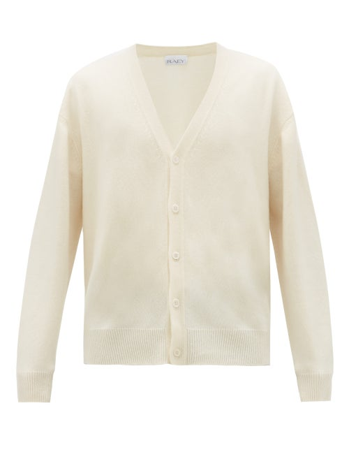 Raey | Raey - Loose-fit Cashmere Cardigan - Mens - Ivory | Clouty