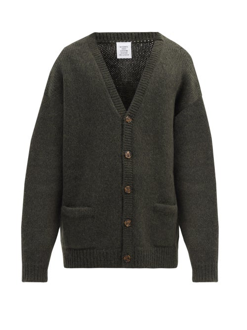 VETEMENTS | Vetements - Oversized Alpaca-blend Cardigan - Mens - Green | Clouty