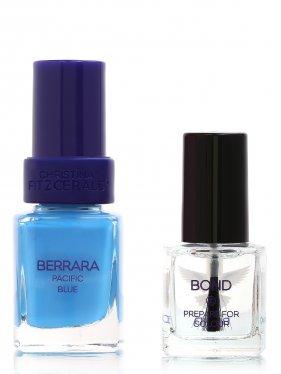 Christina Fitzgerald | Лак Berrara - Pacific blue + bопd-подготовка, Nail Care, 12+9 ml | Clouty