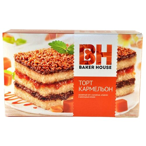 BAKER HOUSE | Торт BAKER HOUSE Кармельон 350 г | Clouty
