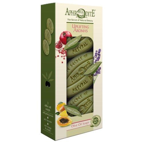 Aphrodite | Набор мыла кускового Aphrodite оливкового Бодрящие ароматы, 255 | Clouty