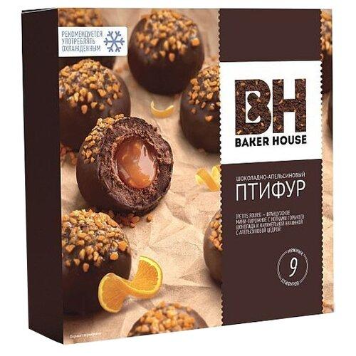 BAKER HOUSE   Пирожное BAKER HOUSE Птифур шоколадно-апельсиновый 225 г   Clouty