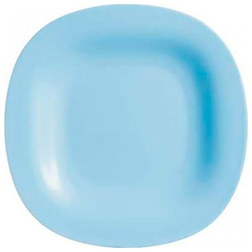 Luminarc   Luminarc Тарелка обеденная Carine 27х27 см light blue   Clouty