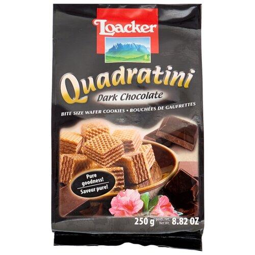 Loacker | Вафли Loacker Квадратини темный шоколад 250 г | Clouty