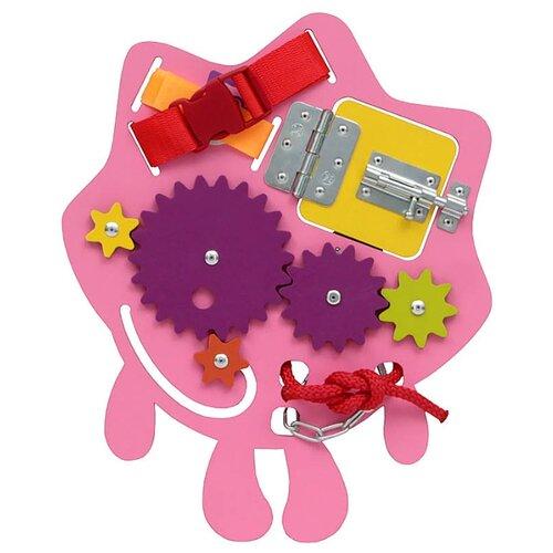 Занятный дом   Бизиборд Занятный дом Путевый Ежик розовый   Clouty