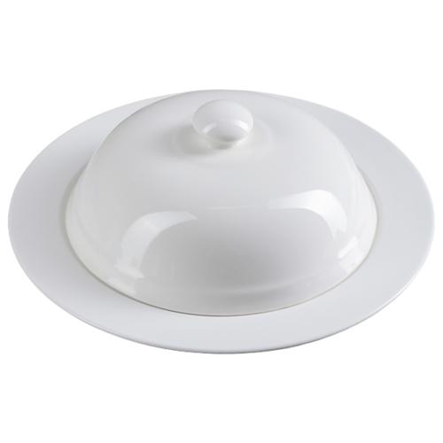 Доляна | Доляна Тарелка для пасты Классика 25.5 см белый | Clouty