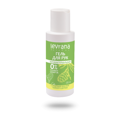 Levrana | Гель для рук Levrana антибактериальный с эфирным маслом чайного дерева 100 мл | Clouty