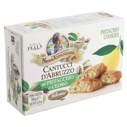 Falcone | Печенье FALCONE Cantucci d'Abruzzo с фисташками и лимонной цедрой, 180 г | Clouty