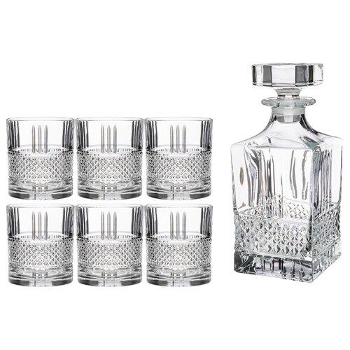 RCR | Набор RCR Style Brillante штоф + стаканы 7 предметов прозрачный | Clouty