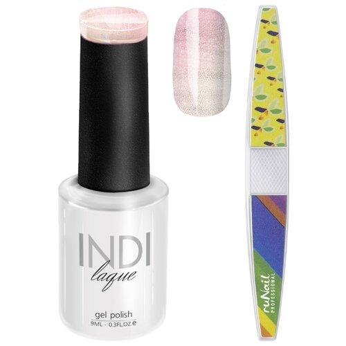 Runail | Набор для маникюра Runail пилка для ногтей и гель-лак INDI laque, оттенок 3698 | Clouty