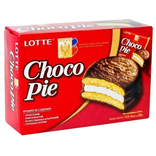 Lotte Confectionery | Пирожное Lotte Confectionery Choco Pie 112 г | Clouty