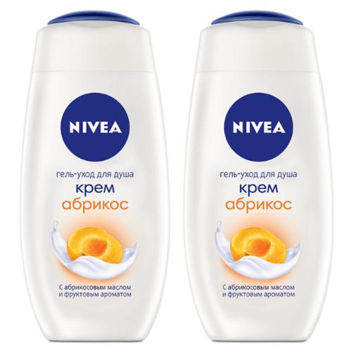 Nivea | Крем-гель для душа Nivea Абрикос, 250 мл, 2 шт. | Clouty