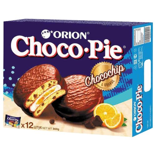 Orion | Пирожное Orion Choco Pie Choco Chip 360 г | Clouty