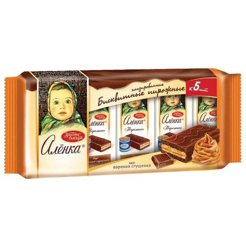 Красный Октябрь | Пирожное Красный Октябрь Алёнка со вкусом вареной сгущенки 200 | Clouty