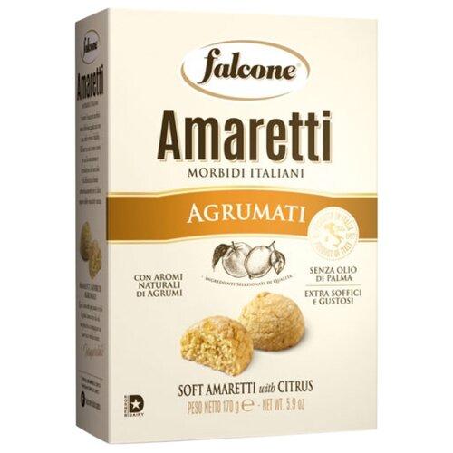 Falcone   Печенье FALCONE Amaretti Morbidi с ароматом цитрусовых, 170 г   Clouty
