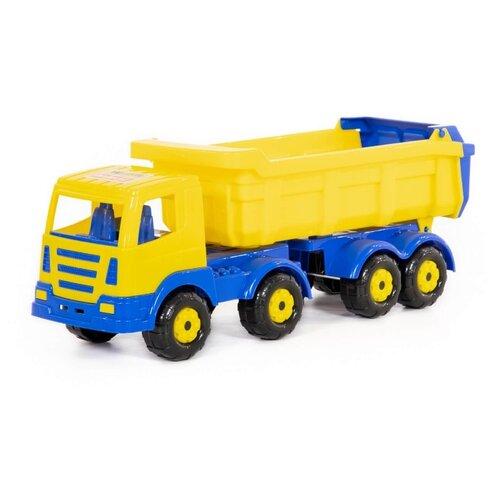 Wader   Грузовик Wader Престиж с полуприцепом (44228) 53 см желтый/синий   Clouty