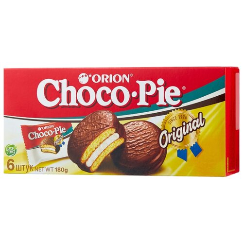Orion   Пирожное Orion Choco Pie 180 г   Clouty