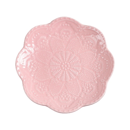 "Доляна | Доляна Тарелка десертная ""Сьюзен"" 15,5 см розовый | Clouty"