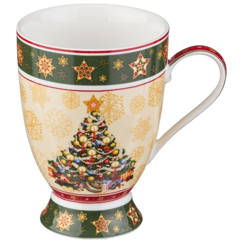 Lefard | Lefard Кружка Christmas Collection 586-178 300 мл бежевый/зеленый/красный | Clouty