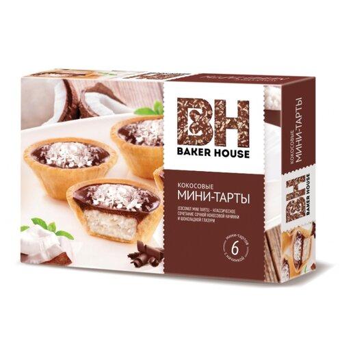 BAKER HOUSE | Пирожное BAKER HOUSE Мини-тарты с кокосовой начинкой 240 г | Clouty